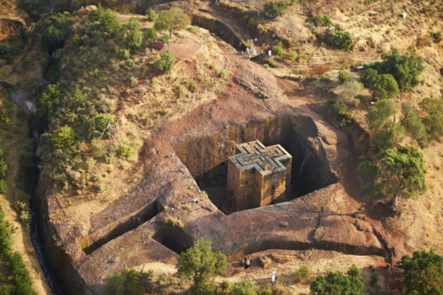 Iglesia de San Jorge en Lalibela (Etiopía) / Cameron Davidson